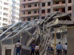 В Баку рухнула недостроенная 11-этажка