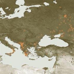 Пожары в Европе: вид из космоса