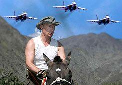 Сибирский отпуск мускулистого президента: во что он играет?