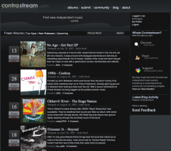 ContraStream - социальная сеть любителей свободной музыки