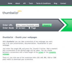 Thumbalizr - скриншоты это просто!