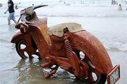 Вьетнамский мастер превратил свой мотоцикл в буйвола