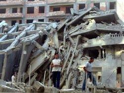 Дом в Баку рухнул по вине строителей