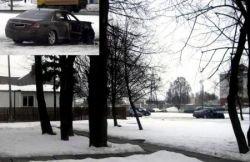 Сгоревший Мерседес-Бенц S-класс (фото)