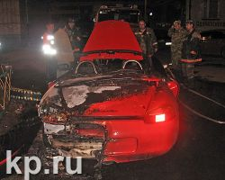 В Казани сгорел «Порш» за 50 тысяч долларов
