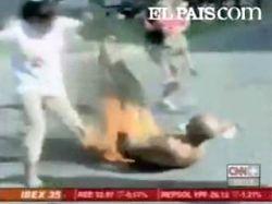Румынский турист совершил акт самосожжения в Испании (видео)