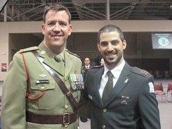 Офицер ЦАХАЛа на учебе в США  с египтянами и ливанцами