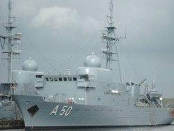Инцидент между германским разведывательным кораблем и ВМС Сирии