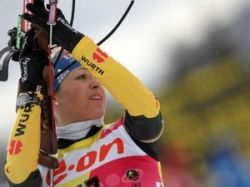 Российские биатлонистки неудачно выступили в Италии