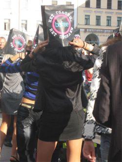 Нет головы – нет проблем!»: безумная промо-акция на улицах Москвы и Питера