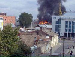 В Петербурге выгорело 1,5 тыс. кв. м построек Балтийского железнодорожного узла