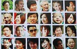 Стена лиц в Шанхае