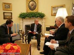 Джордж Буш выступил с телеобращением к нации