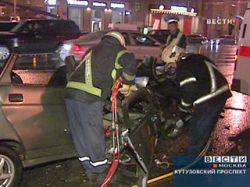 В Москве на Кутузовском проспекте столкнулись 6 автомобилей