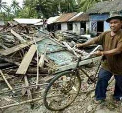 Землетрясение довело два района Индонезии до чрезвычайного положения