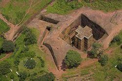 Церковь, высеченная в камне (фото)