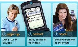 Купоны в мобильном телефоне