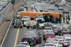 Столкновение Mercedes и Subaru перерезало Проспект Мира