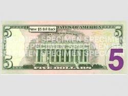 В США представлена новая пятидолларовая банкнота