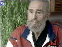 Кастро появился перед телекамерами
