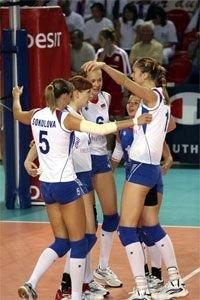 Женский чемпионат Европы по волейболу. Россия-Франция - 3-0