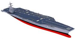 США начали постройку авианосца нового типа