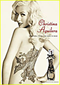 Съемки рекламного ролика парфюма от Кристины Агилеры (видео)