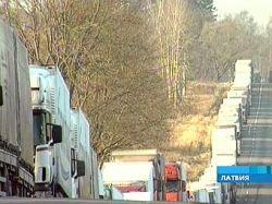 На российско-латвийской границе стоят 1,5 тыс. грузовиков