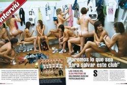 Испанские гандболистки разделись ради денег