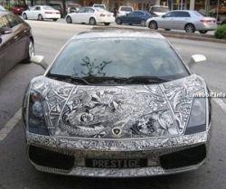 Уникальный разрисованный Lamborghini (фото)