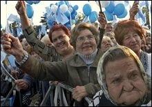 Регионалы устанавливают шатры на Майдане Незалежности