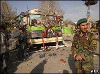 Взрыв в автобусе с полицейскими в Кабуле
