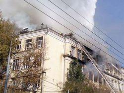 После пожара в московском институте пропали без вести трое студентов