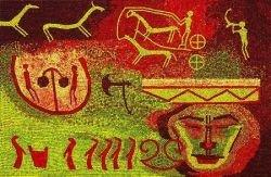 Интересные мозаики из яблок (фото)