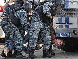 Полицейский произвол на акции против произвола полиции