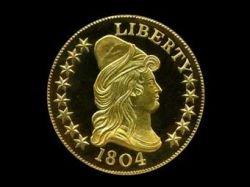 Раритетная десятидолларовая монета продана за 5 миллионов
