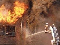 """Пожар в Москве: горит мебельная фабрика \""""8 марта\"""""""