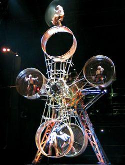 Впечатляющий акробатический номер на «колесе смерти» (видео)