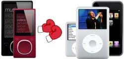 Сравнительные таблицы новых Zunе и iPod