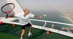 Самый высокий теннисный корт в мире (фото)