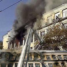 Пожар в столичном вузе: жуткие подробности
