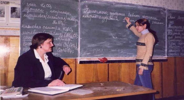 Щкольники трахают училку