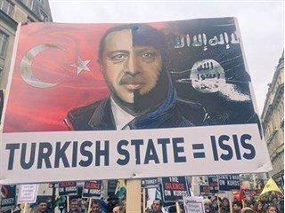 «Турция = ИГИЛ»: тысячи людей с плакатами вышли на улицы Лондона