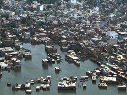 В Индии зафиксирован рекордный уровень воды при разливе Ганга