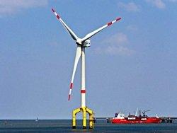 В Англии создан ветропарк из 32 крупнейших в мире офшорных турбин