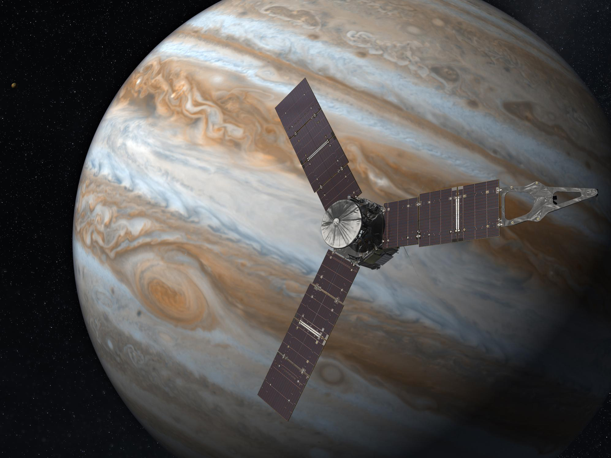 Фото дня: южный полюс Юпитера — штормовое предупреждение