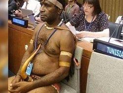 Посол Новой Гвинеи не надел трусов на саммит ООН