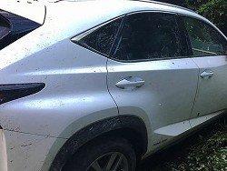 На украинско-венгерской границе водитель Lexus переехал пограничника