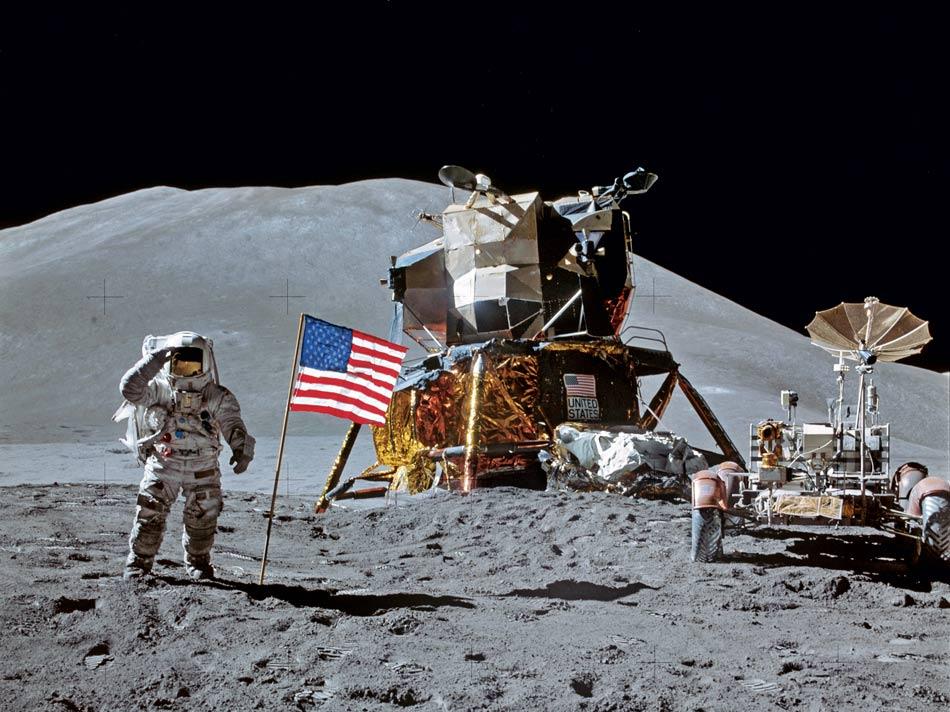 "Мы ""видели"", как американцы садились на Луну..."