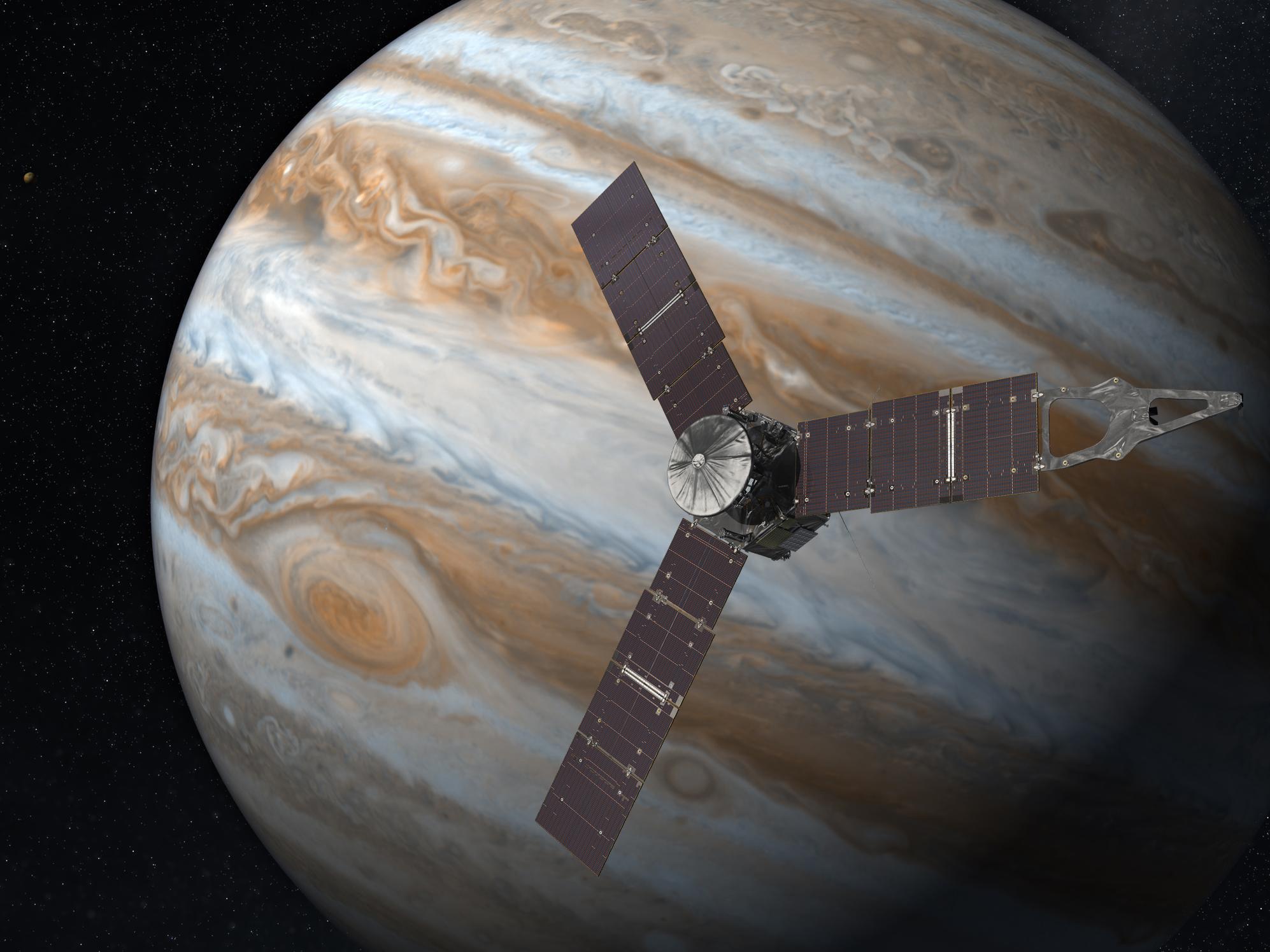 Фото дня: Большое красное пятно на Юпитере в естественных цветах
